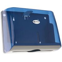 PrimeMatik - Paper hand towel dispenser compatible with C-fold and ZZ-fold in blue color