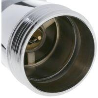 PrimeMatik - Basin sink waste tap plug 9cm. Slotted bathroom push pop up sprung universal G1-1/4 chrome