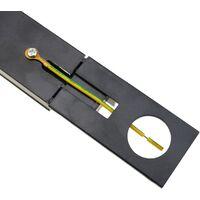 BeMatik - Track section for ceiling lighting single circuit 100cm black