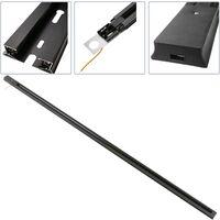 BeMatik - Track section for ceiling lighting single circuit 150cm black