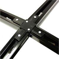 BeMatik - Union splice Quad Rail Ceiling Light-rail 1 via black