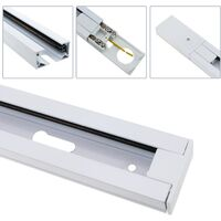 BeMatik - Track section for ceiling lighting single circuit 100cm white
