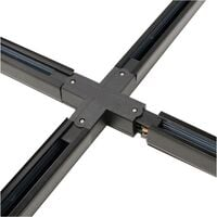 BeMatik - Union splice Quad Rail Ceiling Light rail 3-via black