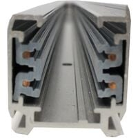 BeMatik - Riel rail ceiling light gray three-way 100cm