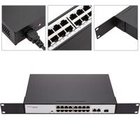 BeMatik - POE-Switch IEEE802.3af RACK19 (16 UTP + 2 Gigabit + 1 SFP ports)