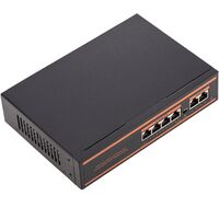 BeMatik - Switch PoE 10/100Mbps IEEE802.3af/at with 2 UTP ports and 4 PoE ports