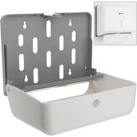 PrimeMatik - Paper hand towel dispenser compatible with C-fold and ZZ-fold in white color 268x103x204mm