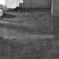 PrimeMatik - Shower drain linear channel 90x7 cm stainless for tile insert