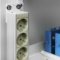 """RackMatic - 19"""" rack rail mounting kit for vertical fixing in a white transport cabinet"""