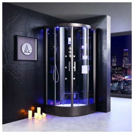 Cabine douche Hammam Archipel® QDR 90C BLACK