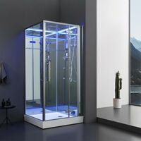 Cabine douche Hammam Archipel® Pro 100D MIROIR (100x100cm) 1 à 2 places