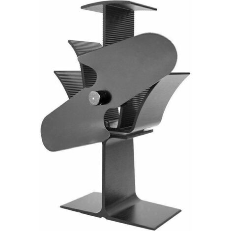 Lincsfire 2 Blades Heat Powered Stove Fan Warm Air Circulating Eco Friendly For Wood / Log Burner / Fireplace