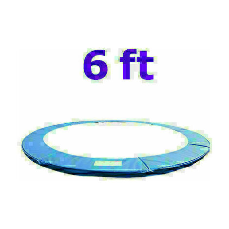 Greenbay Replacement Trampoline Surround Pad Foam Safety Guard Spring Cover Padding Pads Blue 6FT