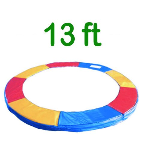 Greenbay Replacement Trampoline Surround Pad Foam Safety Guard Spring Cover Padding Pads Tri-Colour 13FT