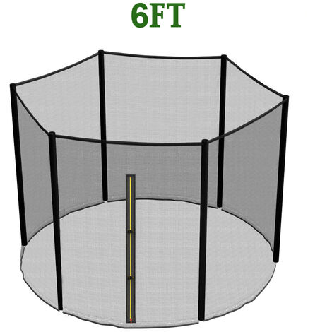 Greenbay Replacement Trampoline Safety Net Enclosure Surround Netting, 6FT - 6 Pole