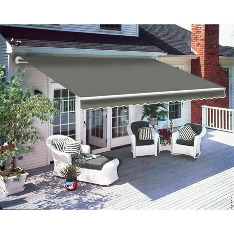 Greenbay 2.5 x 2m Manual Awning Garden Patio Canopy Sun Shade Shelter Retractable Grey