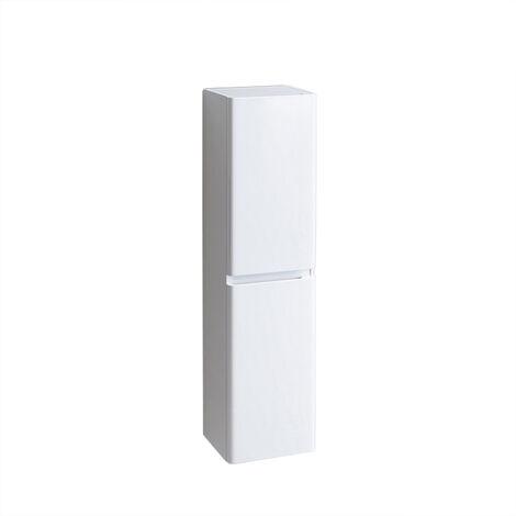 1400mm Tall Bathroom Storage Cabinet Cupboard Wall Hung Soft Close Furniture Unit Gloss White