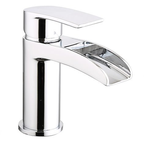 Waterfall Basin Sink Mixer Tap Chrome Bathroom Lever Faucet