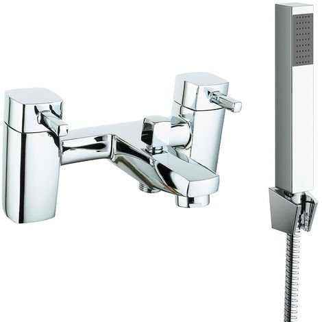 Square Bath Shower Mixer Tap with Modern Bathroom Shower Head
