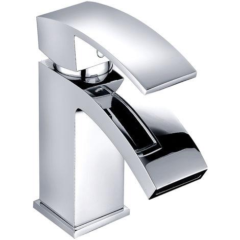 Stylish Cloakroom Basin Mixer Tap Bathroom Sink Faucet Chrome
