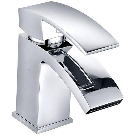 Stylish Basin Mixer Tap Bathroom Sink Faucet Chrome