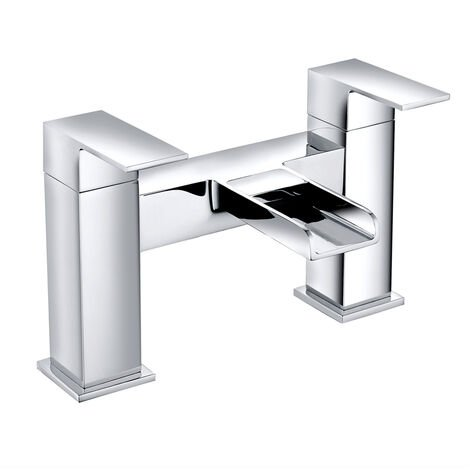 Bathroom Bath Filler Mixer Tap Bathroom Square Tub Lever Faucet Chrome