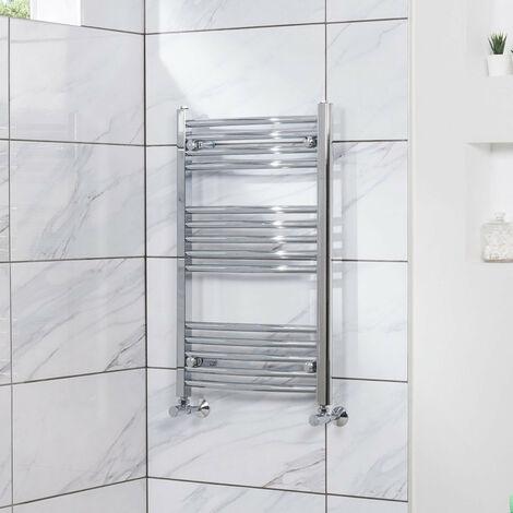 Curved Heated Towel Rail Radiator Bathroom Central Heating Ladder Warmer Rad 800x500mm Chrome