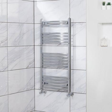 Curved Heated Towel Rail Radiator Bathroom Central Heating Ladder Warmer Rad 1000x500mm Chrome