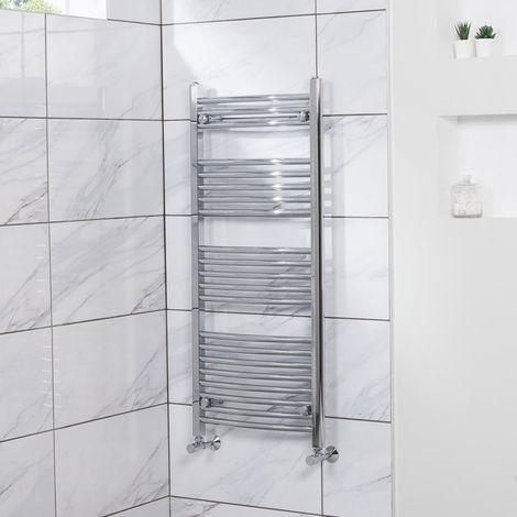 Curved Heated Towel Rail Radiator Bathroom Central Heating Ladder Warmer Rad 1150x500mm Chrome