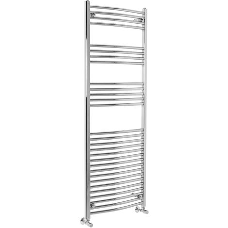 Curved Heated Towel Rail Radiator Bathroom Central Heating Ladder Warmer Rad 1600x600mm Chrome