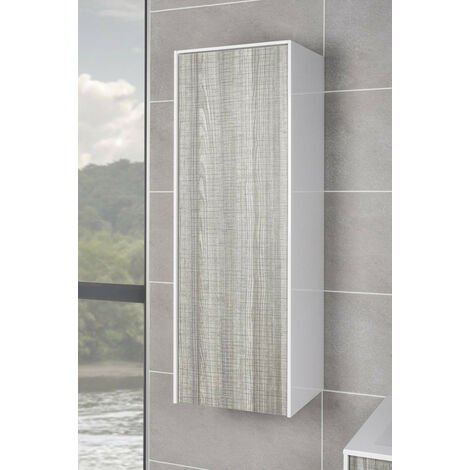Ash Tall Cupboard Storage Unit Wall Hung Cabinet Bathroom Furniture 1000mm