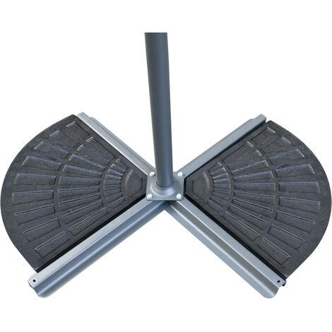Greenbay 2 Pack Banana Parasol Base Cement Concrete Parasol Umbrella Stand Weights Garden Outdoor Accessories