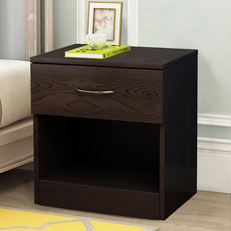 NRG Walnut Chest of Drawer Storage Cabinets Storage Unit Bedside Cabinet 40x36x47cm