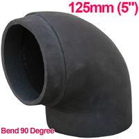 "Lincsfire 5"" 90 Degree Bend Cast Iron Flue Pipe Chimney for Wood Log Burning Multifuel Stove"