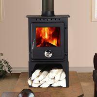 Lincsfire Reepham 6.5KW High Efficiency Log Burner Wood Burning WoodBurner MultiFuel Fireplace Stove with Log Store