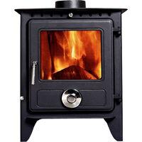 Lincsfire Reepham 12KW High Efficiency Log Burner Wood Burning WoodBurner MultiFuel Fireplace Stove