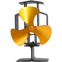 Lincsfire Upgrade 3 Blade Heat Powered Stove Fan for Wood/Log Burner Fireplace - Eco Friendly and Efficient Fan (Gold)