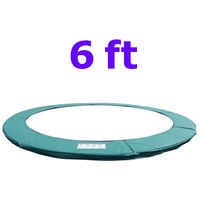 Greenbay Replacement Trampoline Surround Pad Foam Safety Guard Spring Cover Padding Pads Green 6FT