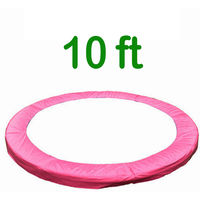 Greenbay Replacement Trampoline Surround Pad Foam Safety Guard Spring Cover Padding Pads Pink 10FT