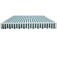 Greenbay 3.5 x 2.5m Manual Awning Garden Patio Canopy Sun Shade Shelter Retractable Green-White