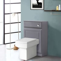 Back to Wall Toilet Concealed Cistern Housing Without Toilet & Cistern 502 mm High Gloss Grey