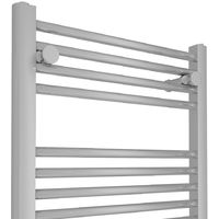 Bathroom Electric Heated Towel Rail 1100 x 500 Straight Thermostatic 250W Chrome