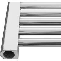 Bathroom Electric Heated Towel Rail 1200 x 500 Straight Thermostatic 400W Chrome