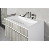 800mm Wall Hung 2 Drawer Bathroom Vanity Basin Sink Unit Cabinet