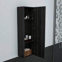 1200mm Grey High Cabinet Wall Mounted Cupboard Tall Bathroom Storage Unit