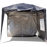 Greenbay Garden Pop Up Gazebo Party Tent Canopy With 4 Sidewalls and Carrying Bag Black 2x2M