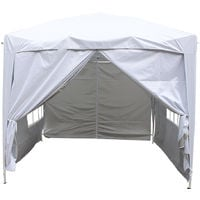 Greenbay Garden Pop Up Gazebo Party Tent Canopy With 4 Sidewalls and Carrying Bag White 2x2M
