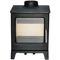 NRG Defra 4.3KW Cast Iron Woodburning Stove Eco Design WoodBurner High Efficiency Fireplace