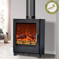 NRG Defra 5KW Multifuel Woodburning Stove Eco Design WoodBurner High Efficiency Fireplace
