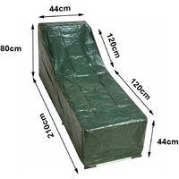 Greenbay Polyethylene Balcony Sun Lounger Covers Garden Rattan Cover Anti-UV Patio Outdoor Furniture Protector (210 x 75 x 44/80cm)